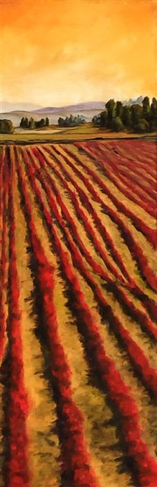 Discover Original Art by Mandy Main | Red Field XVIII oil painting | Art for Sale Online at UGallery