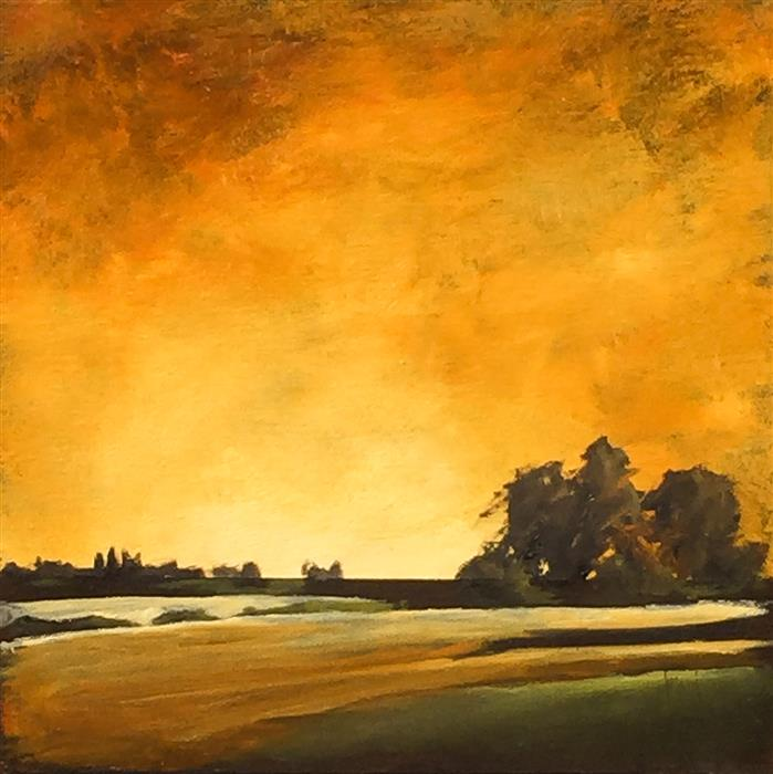 Discover Original Art by Mandy Main | Golden Light II oil painting | Art for Sale Online at UGallery