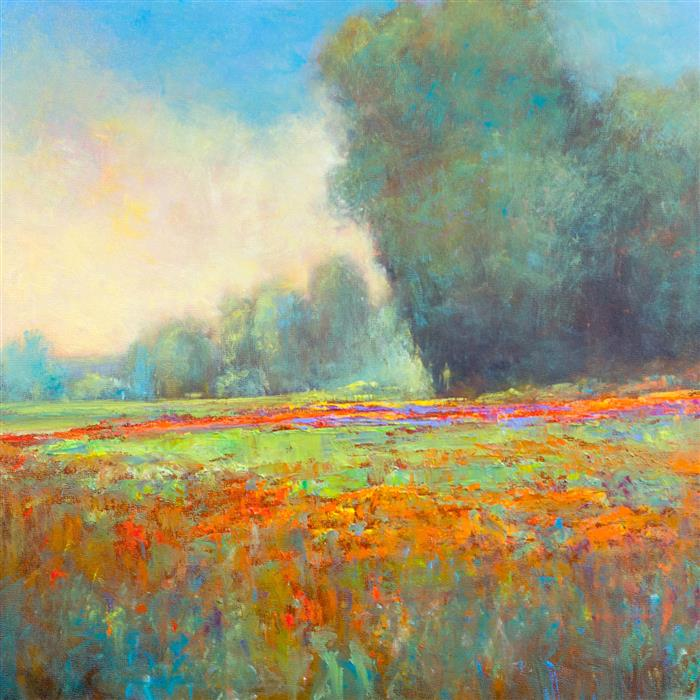 Original art for sale at UGallery.com | May Wildflowers by DON BISHOP | $975 | Oil painting | 18' h x 18' w | http://www.ugallery.com/oil-painting-may-wildflowers