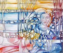 Expressionism art,Fantasy art,People art,Representational art,oil painting,The Crossing