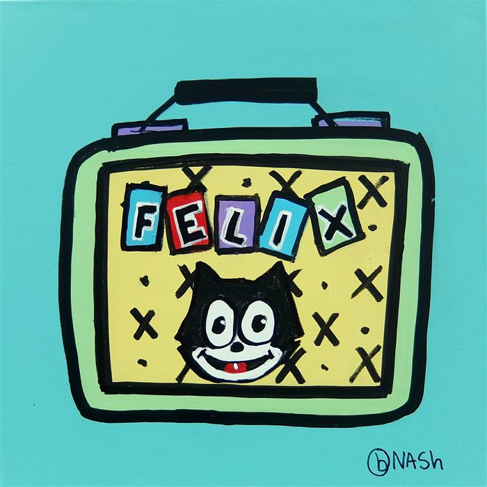 Original art for sale at UGallery.com | Felix the Cat Lunchbox by BRIAN NASH | $650 | Acrylic painting | 24' h x 24' w | http://www.ugallery.com/acrylic-painting-felix-the-cat-lunchbox
