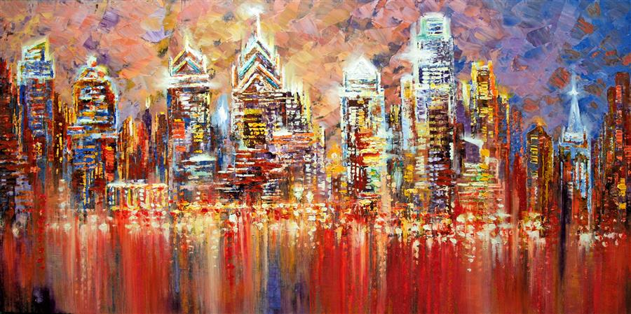 Discover Original Art by Tatiana Iliina | Philadelphia Experiment acrylic painting | Art for Sale Online at UGallery