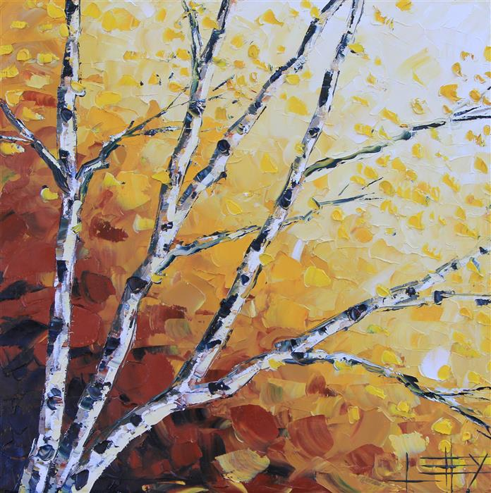 Original art for sale at UGallery.com | Ombre Autumn by LISA ELLEY | $750 | Oil painting | 20' h x 20' w | http://www.ugallery.com/oil-painting-ombre-autumn