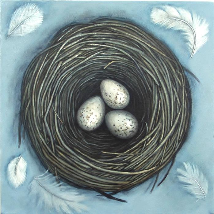 Discover Original Art by Jennifer Ross | Hope is a Thing With Feathers acrylic painting | Art for Sale Online at UGallery