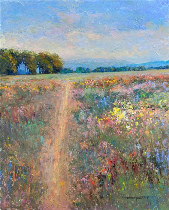 Original art for sale at UGallery.com | May Colors by DON BISHOP | $1,275 | Oil painting | 20' h x 16' w | http://www.ugallery.com/oil-painting-may-colors