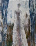 Expressionism art,People art,Fashion art,Representational art,oil painting,Standing by the Window