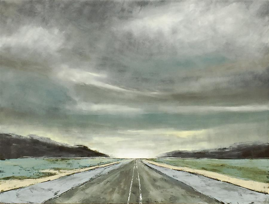 Discover Original Art by Mandy Main | Vanishing Point IV  oil painting | Art for Sale Online at UGallery
