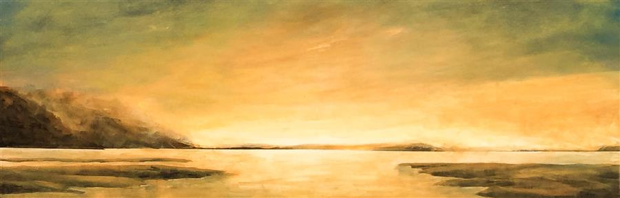 Discover Original Art by Mandy Main | Daybreak oil painting | Art for Sale Online at UGallery