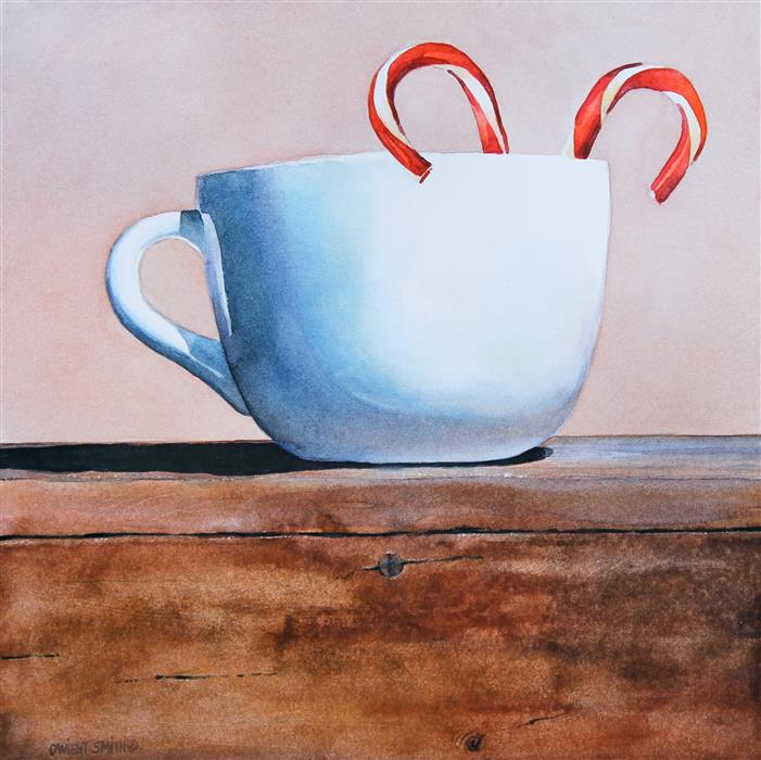 Original art for sale at UGallery.com | Peppermint Tea II by DWIGHT SMITH | $225 | Watercolor painting | 8' h x 8' w | http://www.ugallery.com/watercolor-painting-peppermint-tea-ii