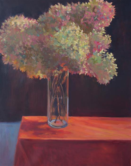 Original art for sale at UGallery.com | Hydrangea by JANET HOWARD-FATTA | $1,450 | Oil painting | 30' h x 24' w | http://www.ugallery.com/oil-painting-hydrangea