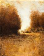 Impressionism art,Landscape art,Representational art,acrylic painting,Backlit Road