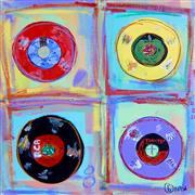 Pop art,Representational art,acrylic painting,45's