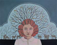 Fantasy art,People art,Surrealism art,Representational art,acrylic painting,Habitat