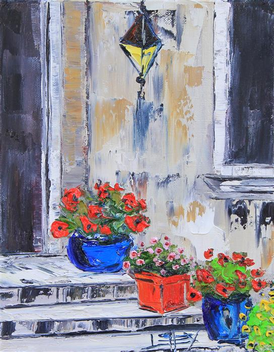 Discover Original Art by Lisa Elley | Iconic Italy oil painting | Art for Sale Online at UGallery
