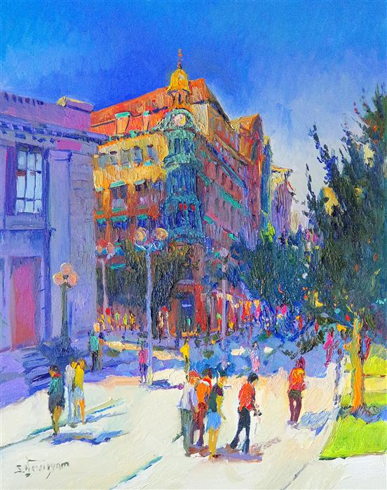 Original art for sale at UGallery.com | Washington DC, (Corner of New York and 15th), Early Evening by SUREN NERSISYAN | $1,200 | Oil painting | 30' h x 24' w | http://www.ugallery.com/oil-painting-washington-dc-corner-of-new-york-and-15th-early-evening