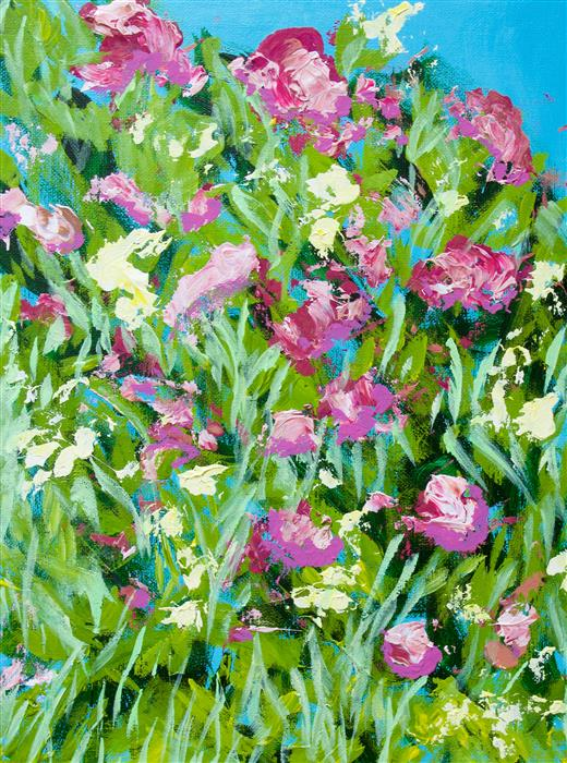 Original art for sale at UGallery.com | Malleny Garden by ALLAN P FRIEDLANDER | $325 | Acrylic painting | 16' h x 12' w | http://www.ugallery.com/acrylic-painting-malleny-garden