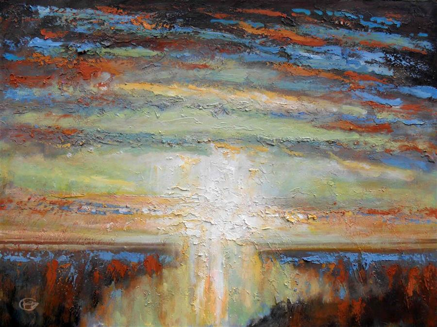 Discover Original Art by Kip Decker   Sunrise acrylic painting   Art for Sale Online at UGallery