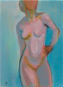 Expressionism art,Nudes art,Representational art,acrylic painting,Celestial Figure