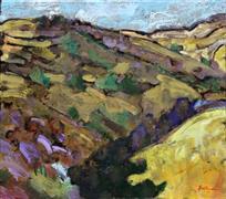 Impressionism art,Landscape art,Representational art,encaustic artwork,Pacheco Pass