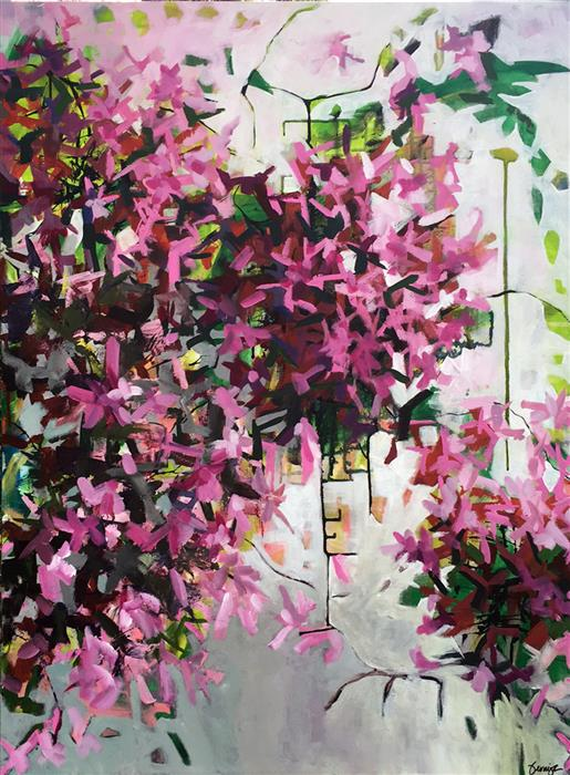Discover Original Art by Bryan Jernigan | Azaleas acrylic painting | Art for Sale Online at UGallery