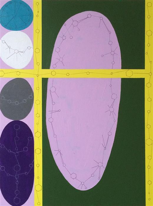 Original art for sale at UGallery.com | Lavender by NANCY GOODMAN LAWRENCE | $500 | Mixed media artwork | 24' h x 18' w | http://www.ugallery.com/mixed-media-artwork-lavender