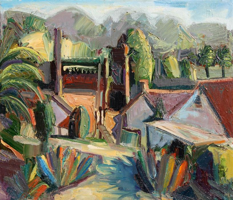 Discover Original Art by James Hartman | View from the Winemaker's Home oil painting | Art for Sale Online at UGallery