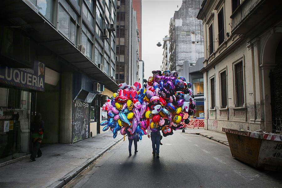 Original art for sale at UGallery.com | Sellers of Balloons by MARIA PLOTNIKOVA | $145 |  | ' h x ' w | http://www.ugallery.com/photography-sellers-of-balloons