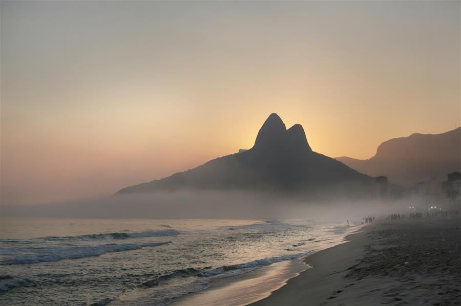 Original art for sale at UGallery.com | Ipanema Sunset by MARIA PLOTNIKOVA | $125 |  | ' h x ' w | http://www.ugallery.com/photography-ipanema-sunset