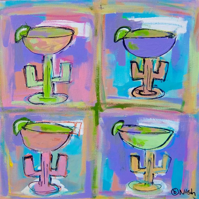 Original art for sale at UGallery.com | Margaritas by BRIAN NASH | $650 | Acrylic painting | 24' h x 24' w | http://www.ugallery.com/acrylic-painting-margaritas