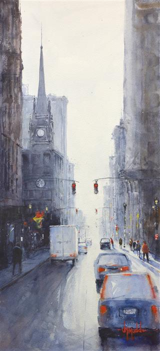 Original art for sale at UGallery.com | Cathedral by JUDY MUDD | $725 | Watercolor painting | 22' h x 10' w | http://www.ugallery.com/watercolor-painting-cathedral