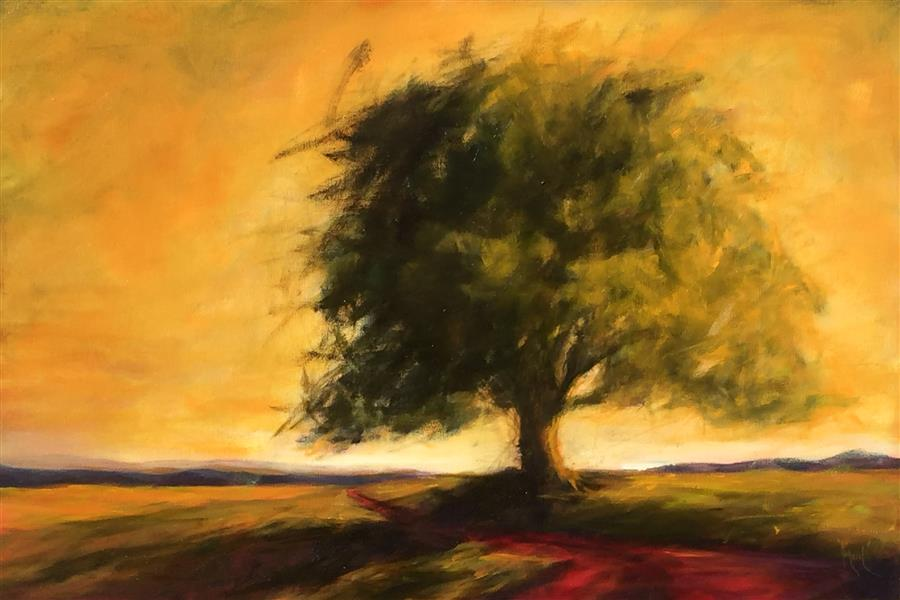 Original art for sale at UGallery.com | Oak XVI by MANDY MAIN | $950 | Oil painting | 20' h x 30' w | http://www.ugallery.com/oil-painting-oak-xvi