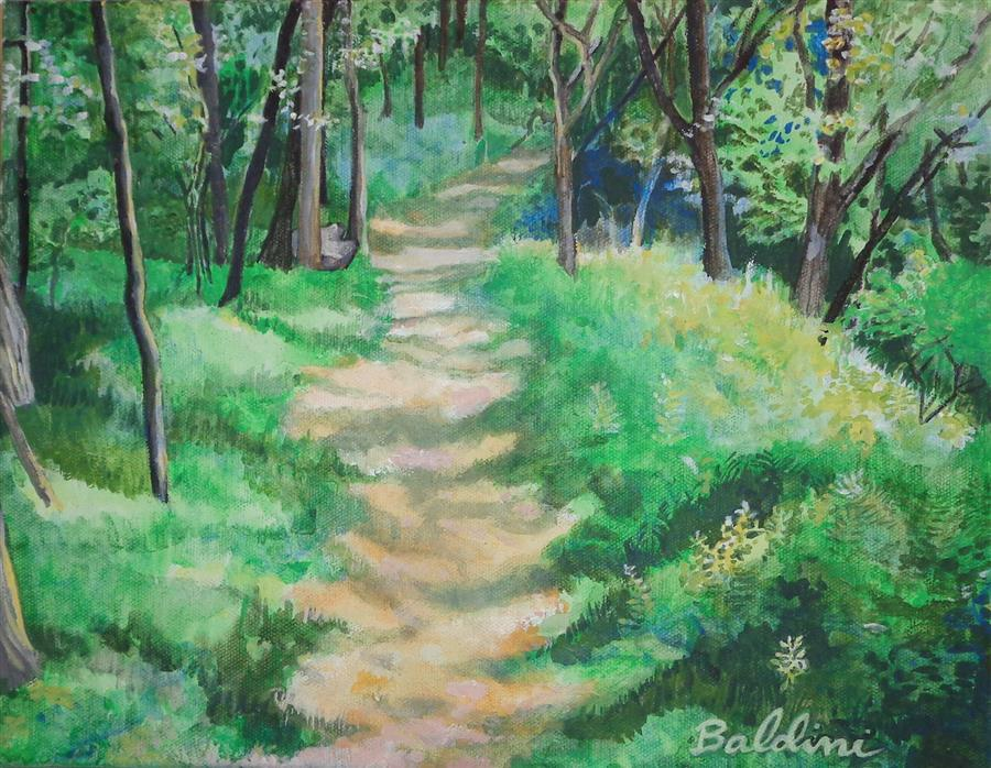 Original art for sale at UGallery.com | Mountain Trail #1 by CYNTHIA BALDINI | $325 | Acrylic painting | 11' h x 14' w | http://www.ugallery.com/acrylic-painting-mountain-trail-1
