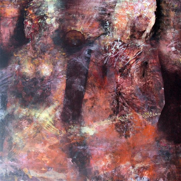 Original art for sale at UGallery.com | Ethereal Love Rust Image Dreamlike Wedding by KLOSKA OVIDIU | $1,500 | Acrylic painting | 32' h x 32' w | http://www.ugallery.com/acrylic-painting-ethereal-love-rust-image-dreamlike-wedding