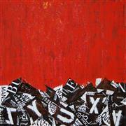 Abstract art,Street Art art,Non-representational art,Modern  art,mixed media artwork,Red Abstract G