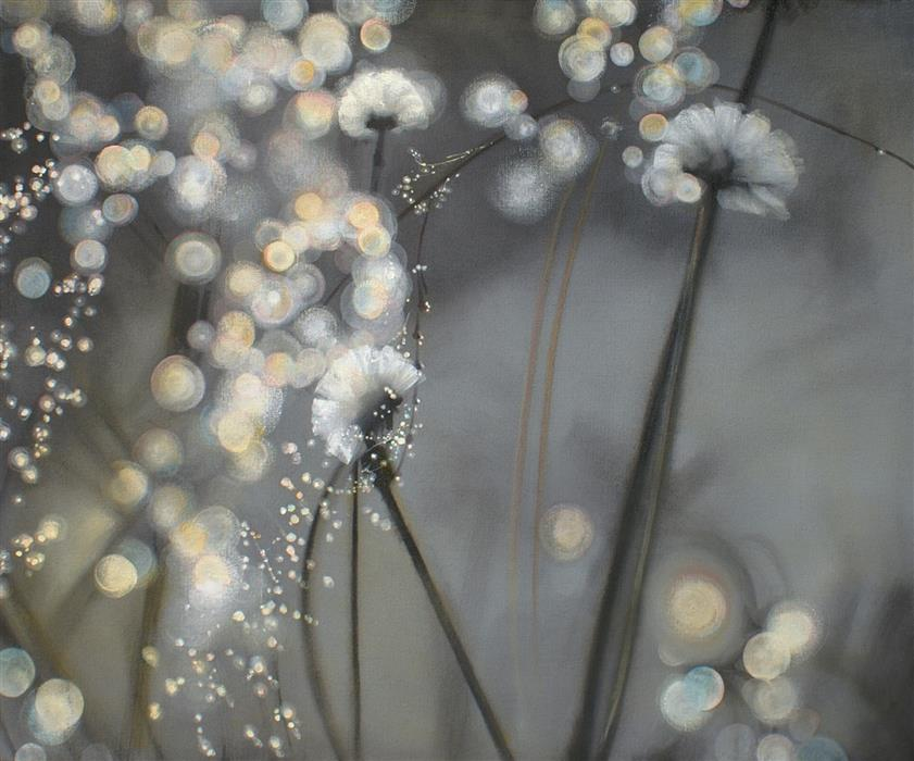 Original art for sale at UGallery.com | Taraxacum Officinale by SARAH BETH GONCAROVA | $2,150 | Oil painting | 30' h x 36' w | http://www.ugallery.com/oil-painting-taraxacum-officinale