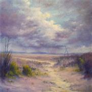 Impressionism art,Seascape art,Representational art,oil painting,Desert Rain