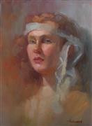 Expressionism art,People art,Representational art,oil painting,Mina