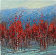 Impressionism art,Landscape art,Nature art,Representational art,oil painting,Crimson Landscape #2
