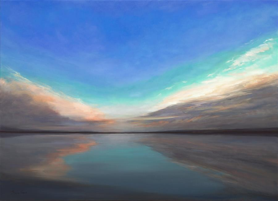 Discover Original Art by Sheila Finch | Salt Flats V oil painting | Art for Sale Online at UGallery