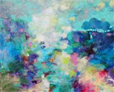 Impressionism art,Landscape art,Representational art,acrylic painting,Joy in the Morning