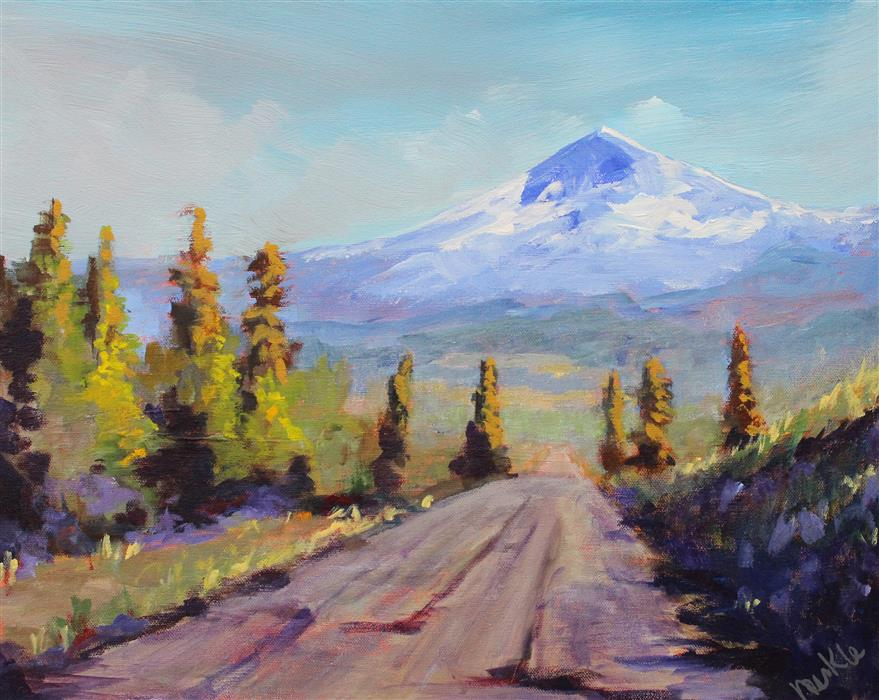 Original art for sale at UGallery.com | Forest Service Road by NANCY MERKLE | $625 | Acrylic painting | 16' h x 20' w | http://www.ugallery.com/acrylic-painting-forest-service-road