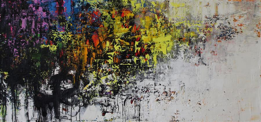 Original art for sale at UGallery.com | Integrated by MIA HENRY | $5,175 | Oil painting | 32' h x 68' w | http://www.ugallery.com/oil-painting-integrated