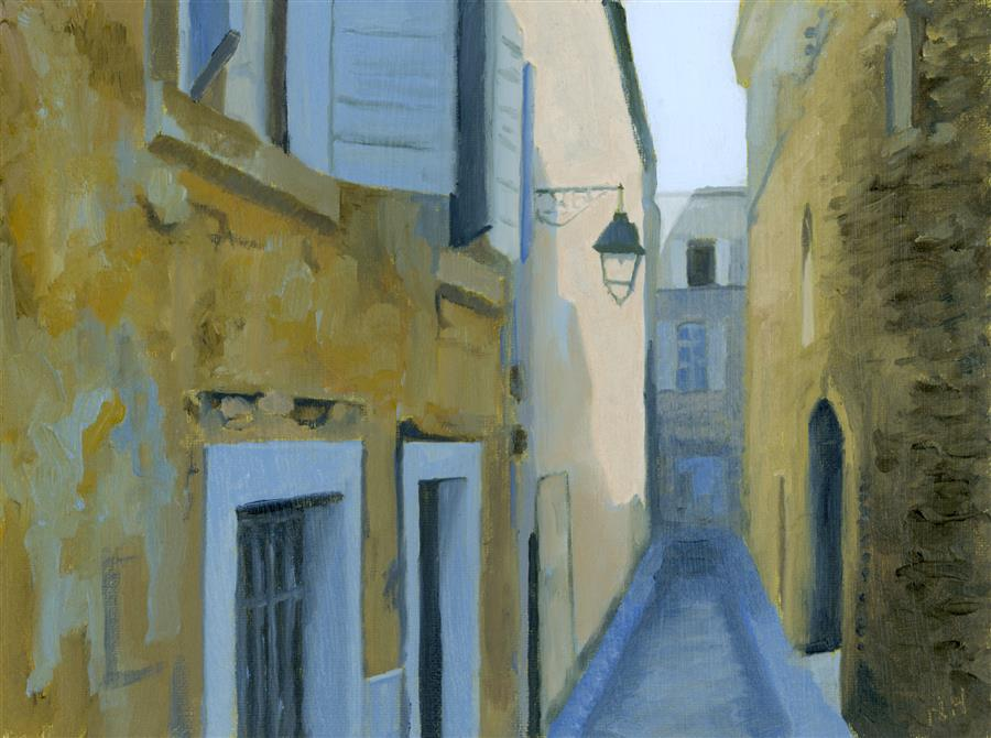 Original art for sale at UGallery.com | Rue Frederic, Arles by NANCY HERMAN | $350 | Oil painting | 6' h x 8' w | http://www.ugallery.com/oil-painting-rue-frederic-arles