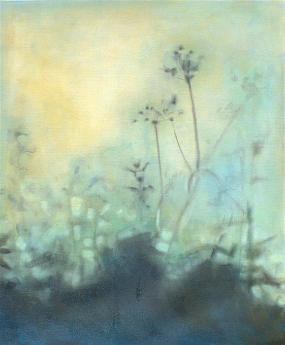 Original art for sale at UGallery.com | Anthriscus Slyvestris by SARAH BETH GONCAROVA | $2,300 | Oil painting | 36' h x 30' w | http://www.ugallery.com/oil-painting-anthriscus-slyvestris