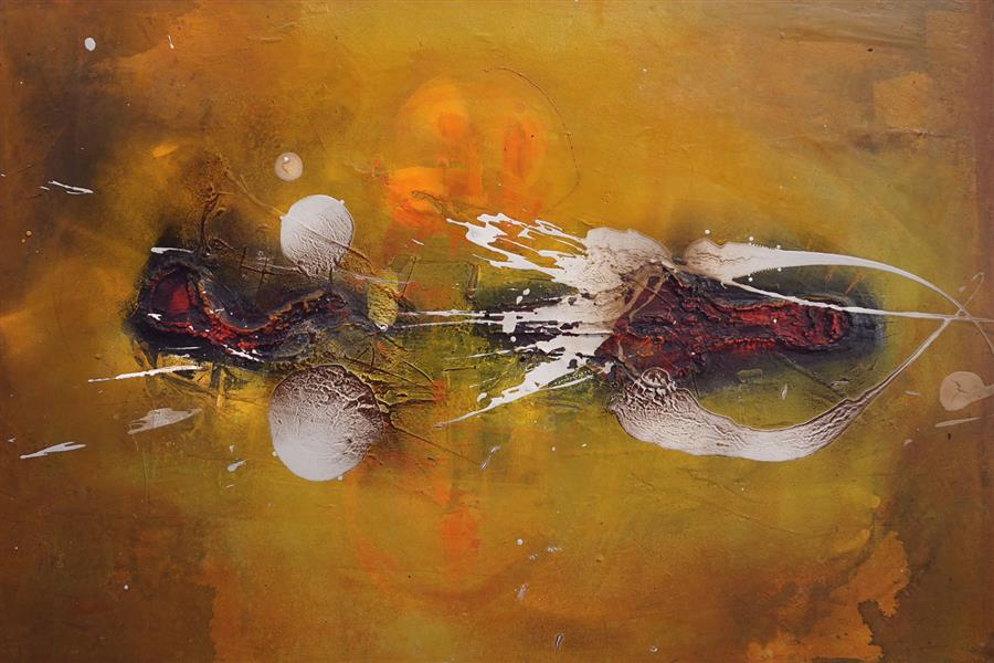 Original art for sale at UGallery.com | Dinn on Fire by ADRIANO RIBEIRO | $1,525 | Mixed media artwork | 31' h x 47' w | http://www.ugallery.com/mixed-media-artwork-dinn-on-fire