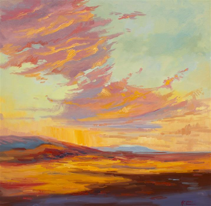 Discover Original Art by Karen E Lewis | High Desert Strata  oil painting | Art for Sale Online at UGallery
