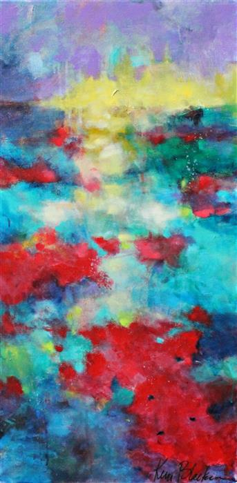 Original art for sale at UGallery.com | Poppy Magic by KERRI  BLACKMAN | $725 | Acrylic painting | 36' h x 18' w | http://www.ugallery.com/acrylic-painting-poppy-magic