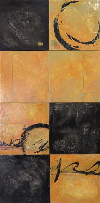 Original art for sale at UGallery.com | Pieces of the Story by TERI MUSE | $1,425 | Mixed media artwork | 48' h x 24' w | http://www.ugallery.com/mixed-media-artwork-pieces-of-the-story