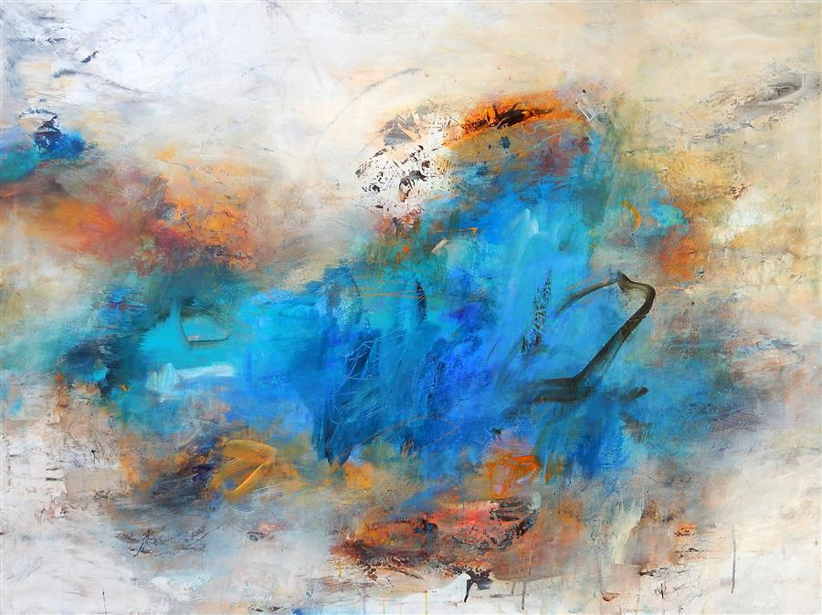Original art for sale at UGallery.com | Fading Memories by HILMA KOELMAN | $2,475 | Acrylic painting | 36' h x 48' w | http://www.ugallery.com/acrylic-painting-fading-memories