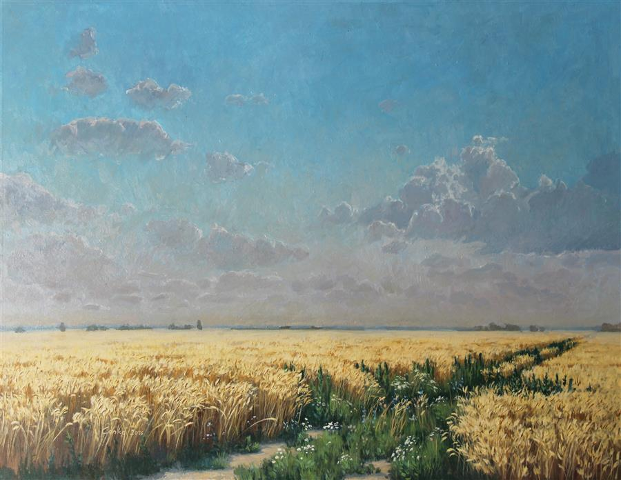 Original art for sale at UGallery.com | Lowland by STEFAN CONKA | $1,625 | Oil painting | 29.1' h x 36.6' w | http://www.ugallery.com/oil-painting-lowland